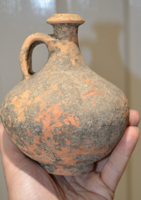 A good sized and attractive Roman redware Terracotta Wine Flagon, Yorkshire Collection. SOLD